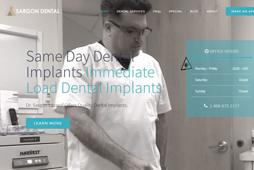 custom dental website design dental office website