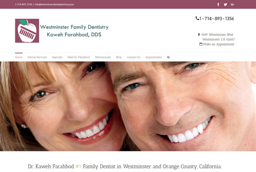 dental website design dental office website